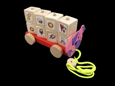 kockacik tahaci velky zvieratko auto kocky hracka darcek
