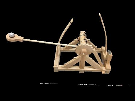 katapult, stredovek, model